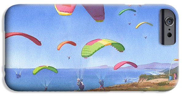 Cliff iPhone Cases - Torrey Pines Gliderport iPhone Case by Mary Helmreich