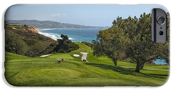 Study iPhone Cases - Torrey Pines Golf Course North 6th Hole iPhone Case by Adam Romanowicz