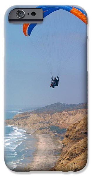 Park Scene iPhone Cases - Torrey Pines Paragliders iPhone Case by Anna Lisa Yoder