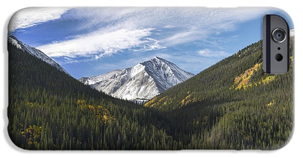 Dog In Landscape iPhone Cases - Torreys Peak 3 iPhone Case by Aaron Spong