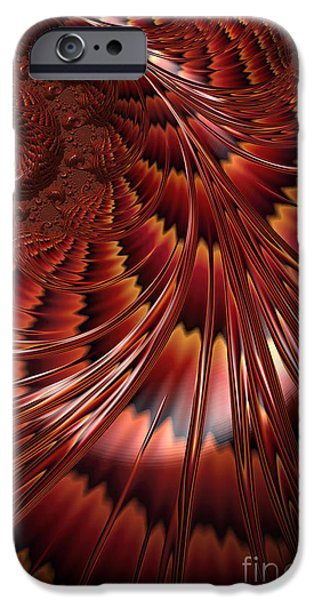 Fractal iPhone Cases - Tortoiseshell Abstract iPhone Case by John Edwards