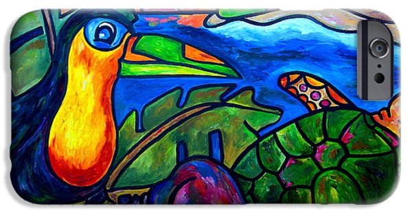 Toucan iPhone Cases - Tortuga Eco Tour iPhone Case by Patti Schermerhorn
