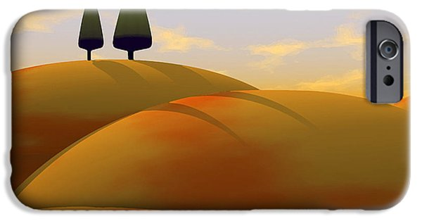 Warm Digital Art iPhone Cases - Toscana 1 iPhone Case by Cynthia Decker
