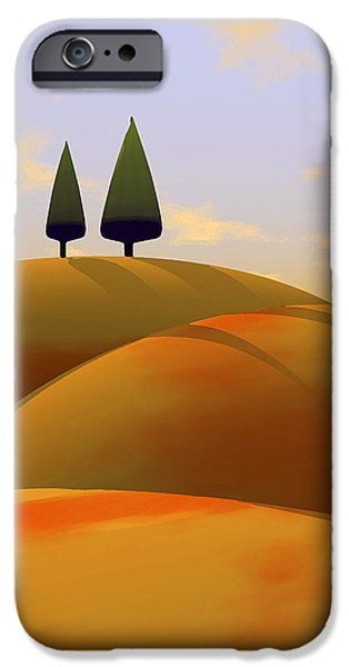 Tuscan Landscapes iPhone Cases - Toscana 1 iPhone Case by Cynthia Decker