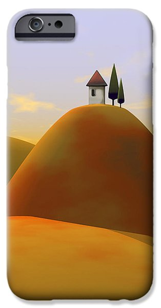 Tuscan Landscapes iPhone Cases - Toscana 2 iPhone Case by Cynthia Decker