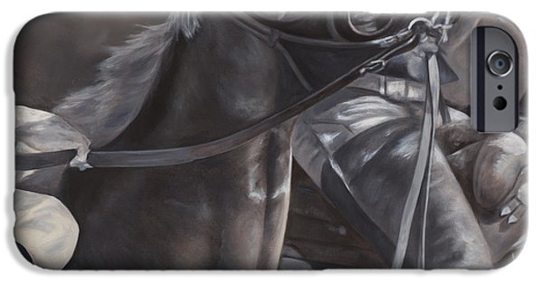 Thoroughbred iPhone Cases - Toss iPhone Case by Linda Shantz