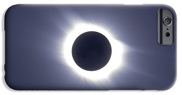 Strange iPhone Cases - Total Solar Eclipse iPhone Case by Alan Dyer