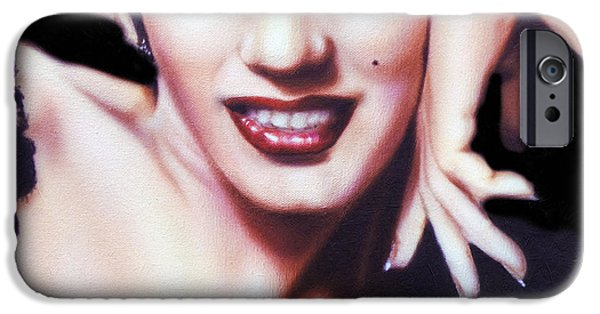 Smiling Mixed Media iPhone Cases - Totally Marilyn iPhone Case by Georgiana Romanovna