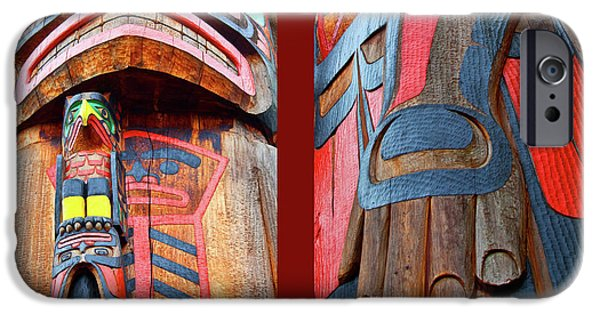 Canadian Photographer iPhone Cases - Totem 2 iPhone Case by Theresa Tahara