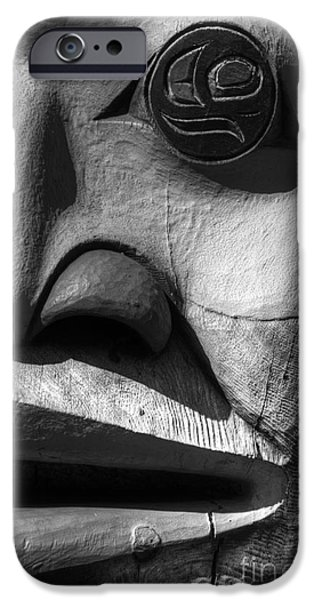 Wood Carving iPhone Cases - Totem 3 iPhone Case by Bob Christopher