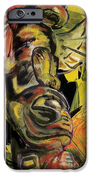 Confederacy iPhone Cases - Totem Pole 1 iPhone Case by Corporate Art Task Force
