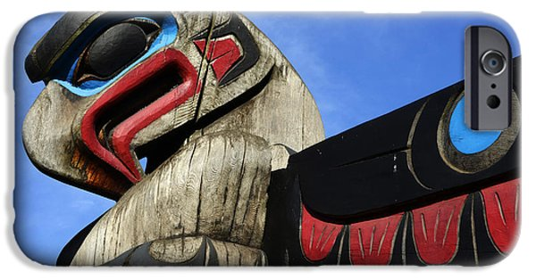 Totem iPhone Cases - Totem Pole 2 iPhone Case by Bob Christopher