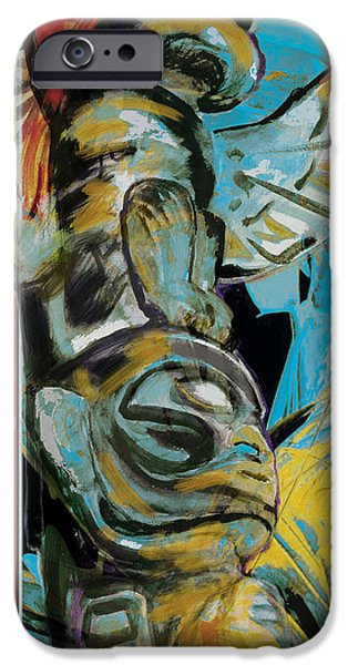 Confederacy iPhone Cases - Totem Pole 2 iPhone Case by Corporate Art Task Force