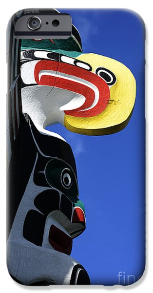 Totem iPhone Cases - Totem Pole 9 iPhone Case by Bob Christopher
