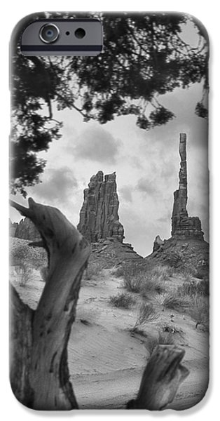 Totem iPhone Cases - Totem Pole - Arizona iPhone Case by Mike McGlothlen