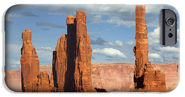 Totem iPhone Cases - Totem Pole - Monument Valley iPhone Case by Mike McGlothlen