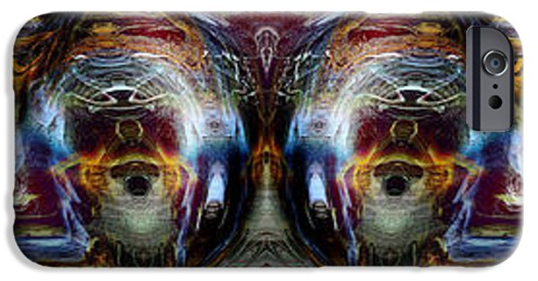 Abstract Expressionism iPhone Cases - Totemic Twin iPhone Case by Richard Thomas