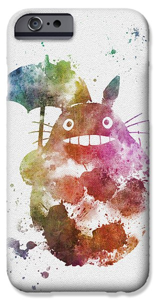 Recently Sold -  - Animation iPhone Cases - Totoro iPhone Case by Rebecca Jenkins