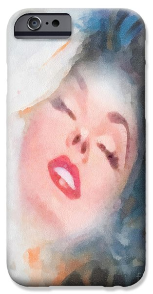 Lips iPhone Cases - Touch iPhone Case by Mo T