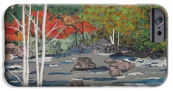 River Tapestries - Textiles iPhone Cases - Touch of Autumn iPhone Case by Anita Jacques