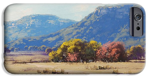 Rural iPhone Cases - Touch of Autumn  iPhone Case by Graham Gercken