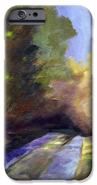 Purple Sensation iPhone Cases - Touch of Light iPhone Case by Nancy Merkle