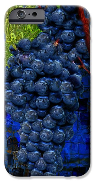 Jam Digital iPhone Cases - Touch Of The Grape iPhone Case by Jack Zulli