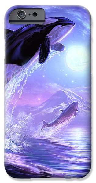 Whale Digital iPhone Cases - Touch the Sky iPhone Case by Jeff Haynie
