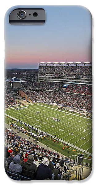 Touchdown New England Patriots  iPhone Case by Juergen Roth