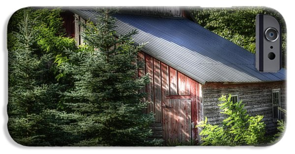 Old Barns iPhone Cases - Touched by the Sun iPhone Case by Joan Carroll