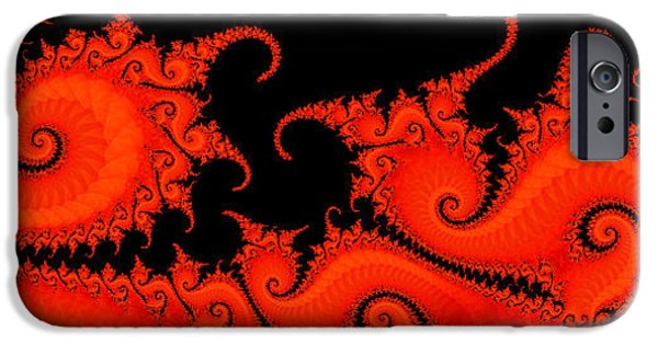 Strange iPhone Cases - Touching the Abyss iPhone Case by Elizabeth McTaggart