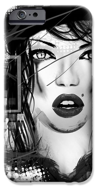 Lips iPhone Cases - Tough Love Black iPhone Case by Melissa Smith