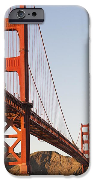 Tour Boats Cross Under Golden Gate iPhone Case by Harry M. Walker