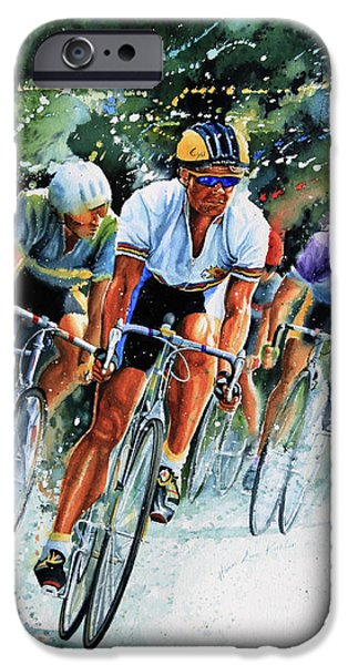 Tour de Force iPhone Case by Hanne Lore Koehler