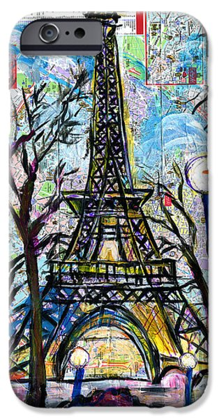 Jacob Lawrence iPhone Cases - Tour Eiffel Vue de lAquarium iPhone Case by Everett Spruill