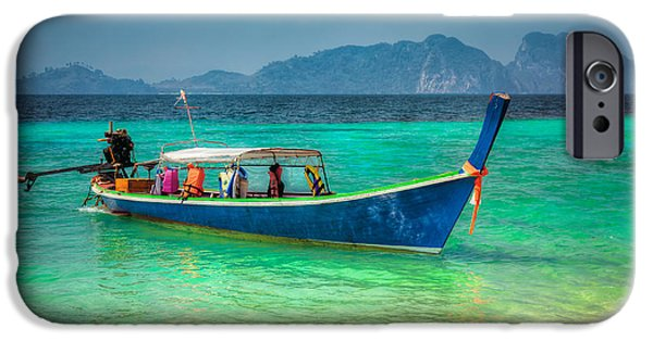 Charters iPhone Cases - Tourist Longboat iPhone Case by Adrian Evans