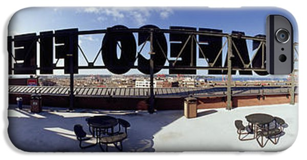 Baseball Stadiums iPhone Cases - Tourist Sitting On A Roof iPhone Case by Panoramic Images