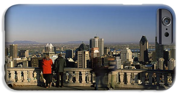 Observation iPhone Cases - Tourists At An Observation Point iPhone Case by Panoramic Images