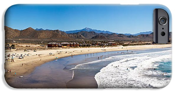 Baja iPhone Cases - Tourists At Cerritos Beach, Todos iPhone Case by Panoramic Images