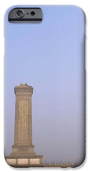 Beijing iPhone Cases - Tourists In Front Of A Monument iPhone Case by Panoramic Images