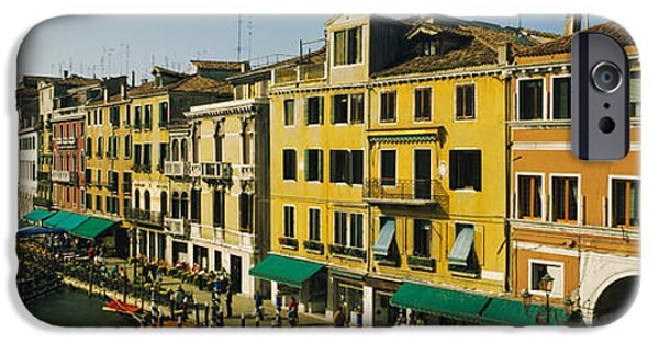 Mature Adult iPhone Cases - Tourists Looking At Gondolas iPhone Case by Panoramic Images