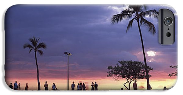 Getting Away From It All iPhone Cases - Tourists On The Beach, Honolulu, Oahu iPhone Case by Panoramic Images