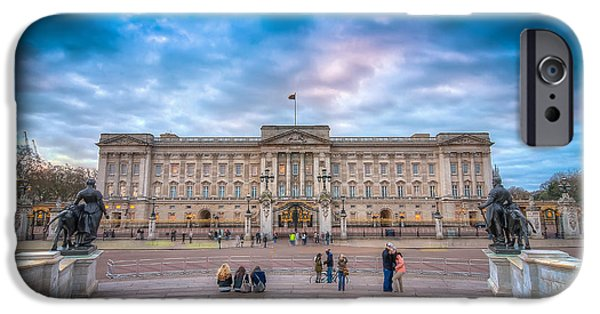Prince Harry iPhone Cases - Tourists outside Buckingham Palace iPhone Case by Nick Jackson