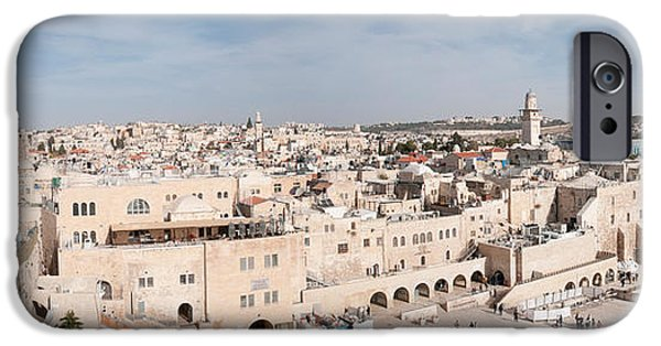 Judaism iPhone Cases - Tourists Praying At A Wall, Wailing iPhone Case by Panoramic Images