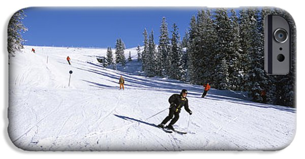 Worn In iPhone Cases - Tourists Skiing, Kitzbuhel, Westendorf iPhone Case by Panoramic Images