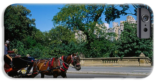 Horse iPhone Cases - Tourists Traveling In A Horse Cart iPhone Case by Panoramic Images