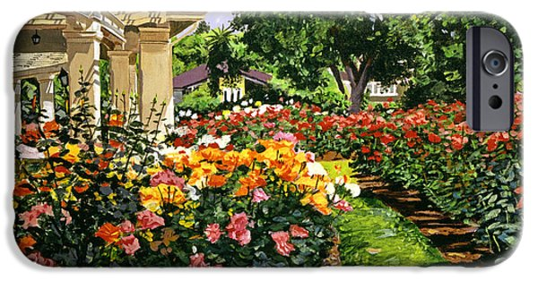 Featured Paintings iPhone Cases - Tournament of Roses II iPhone Case by David Lloyd Glover