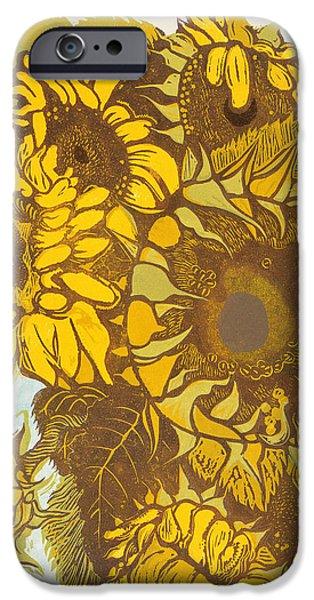 Sunflower iPhone Cases - Tournesol iPhone Case by Carol Walklin