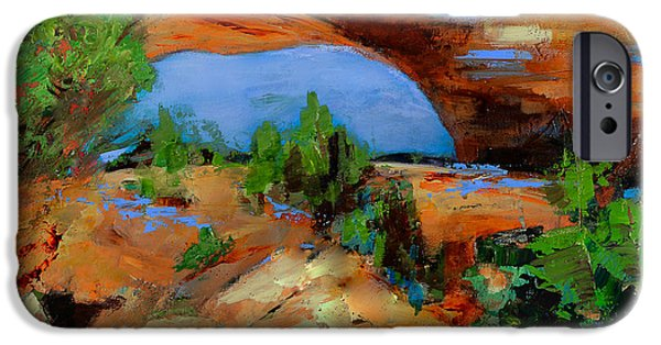 Moab iPhone Cases - Toward the Arch  iPhone Case by Elise Palmigiani