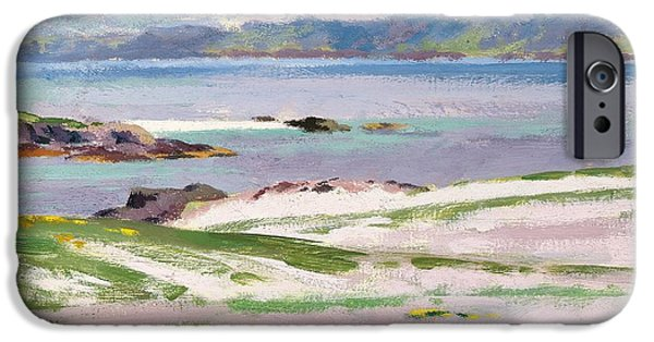 Colorist iPhone Cases - Towards Mull from Choc Ard Anraidh iPhone Case by Francis Campbell Boileau Cadell